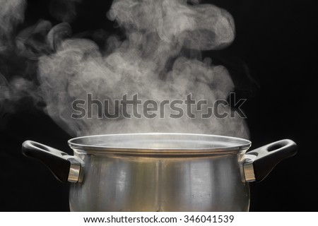 steam over cooking pot Сток-фото ©
