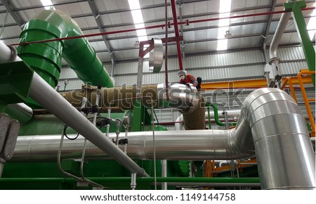 Glass wool pipe insulation, thermal insulation Images and