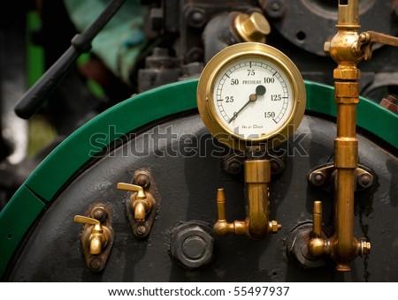 steam powered traction engine boiler pressure gauge #55497937
