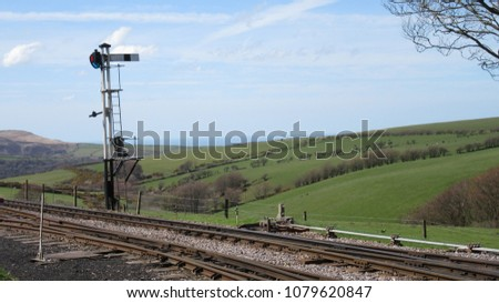 steam railway signals #1079620847