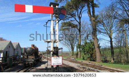 steam railway signals #1079620853