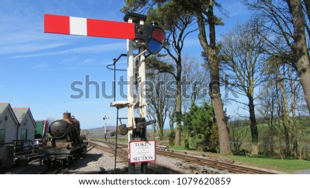 steam railway signals #1079620859