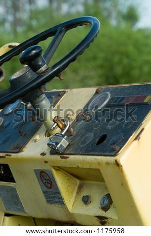 Steam roller control panel