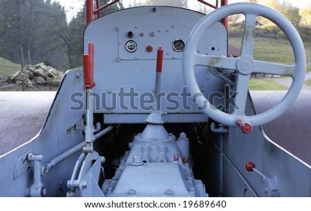 Steam roller interior