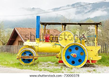 steam roller, Mokra Gora, Serbia