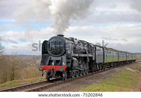 Steam train taking day trippers out for a nostalgic experience - Large steamer