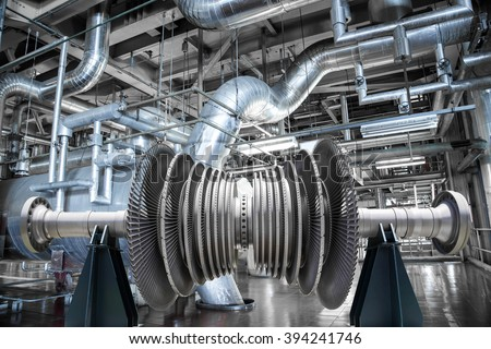 Steam turbine of power generator in an industrial thermal power plant