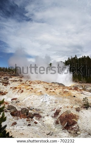 Steamboat Geyser, Yellowstone National Park, USA
