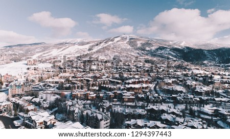Steamboat Springs Colorado Aerial View #1294397443
