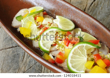 Steamed pork with lemon - spicy with pork and lemon menu - yum spicy pork with lemon