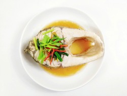 Steamed Snapper with Chinese sauce. Steamed Snapper with Soy Sauce