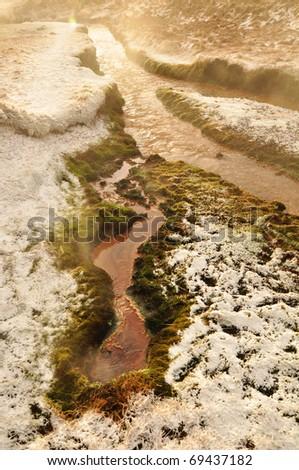 Steaming geothermal hot spring, Hveragerdi, Iceland