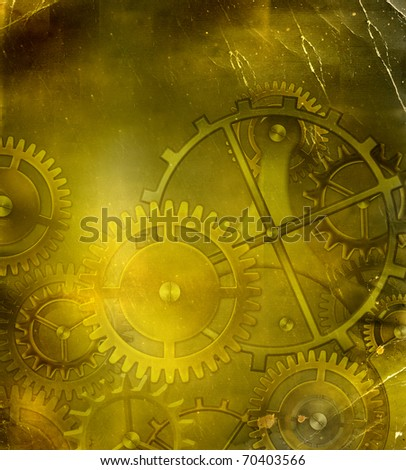 steampunk mechanism background