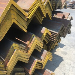 Steel angle, rust steel, steel support structure.