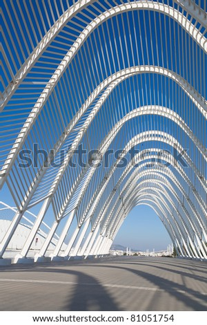Steel Archway at Stadium in Greece