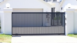 Steel automatic sliding open front gate