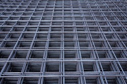 Steel bar iron wire in factory.Steel Rebars for reinforced concrete  construction site.Steel reinforcement bar for industrial building