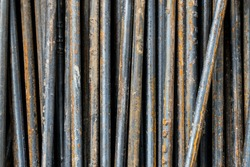 steel bar,iron wire,steel rod,background and texture
