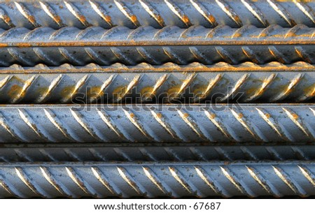 Steel Bars (concrete reinforcing) - stock photo
