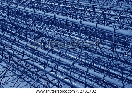 steel bars construction materials stacked together Photo stock ©