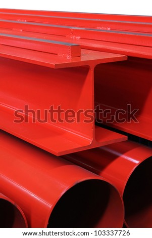 Steel beam - stock photo