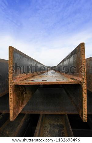 Steel beams (H-beam) #1132693496