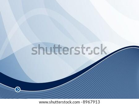 steel blue wave background ideal for presentations - landscape version