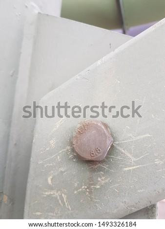 Steel bolt in a steel joint