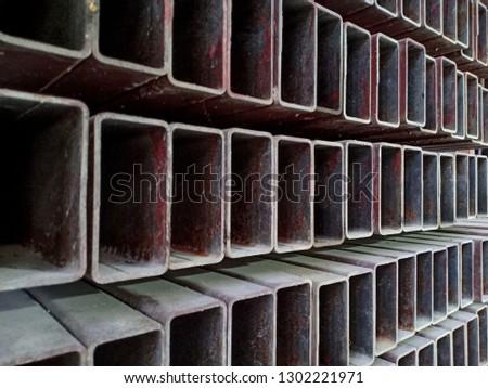 Steel box , Steel rectangular bars of metal