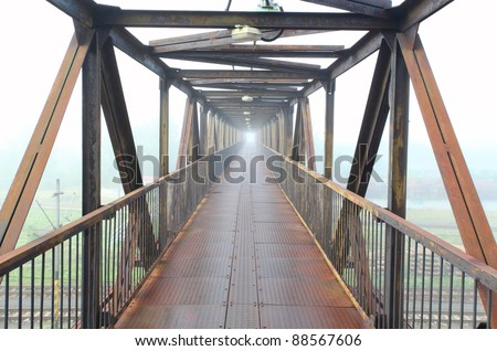 Steel bridge for people