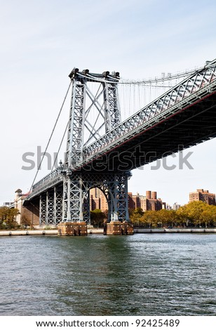 steel bridge in the city of New York
