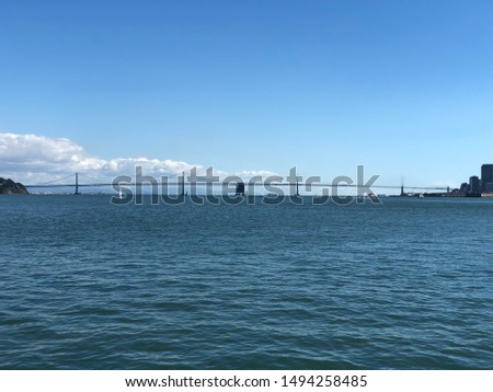Steel bridge over the bay at San Francisco, USA