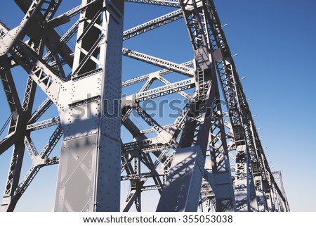 Steel Bridge, steel structure close-up view #355053038