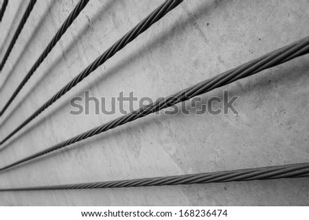 steel cable, concrete support cable