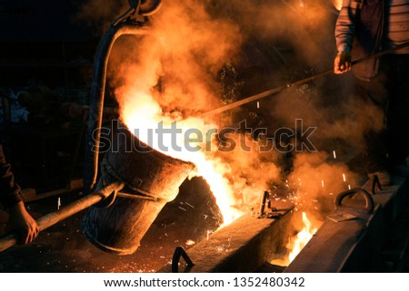 Steel casting and molding. Casting is most often used for making complex shapes that would be difficult or uneconomical to make by other methods. #1352480342