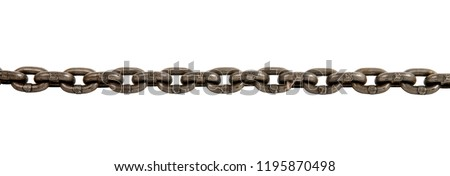 steel chain, on white background; isolated - Shutterstock ID 1195870498
