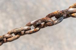 Steel chain, Rusty chains.