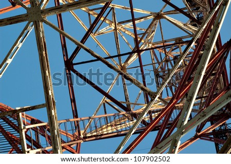 steel construction built metal building structure sky business architecture