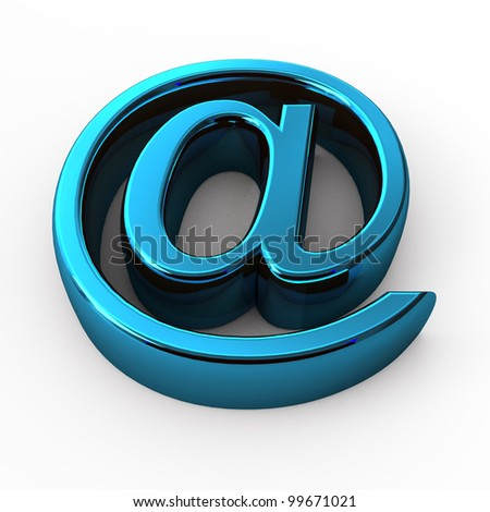 steel e-mail internet  icon 3d  isolated on white background