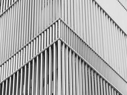 Steel facade pattern Modern building corner Architecture details background