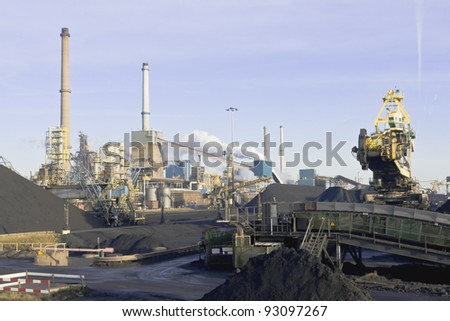 Steel factory industry