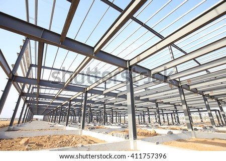 Steel frame structure #411757396