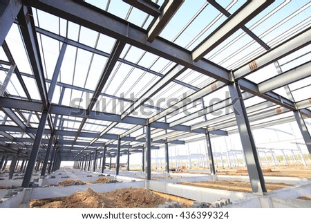 Steel frame structure Foto stock ©