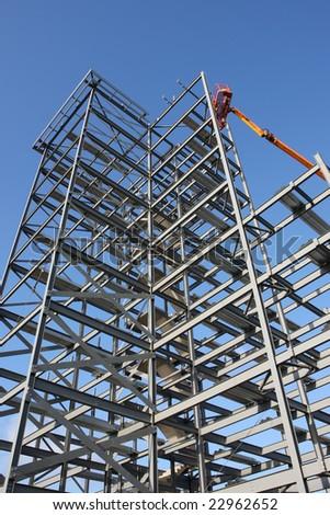 Steel framework under construction