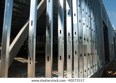 Steel Framing 6 - stock photo
