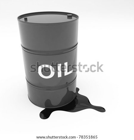Steel 55 gallon oil drum black in color leaking contents