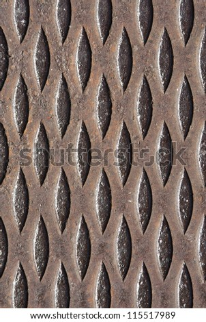 Steel grate background pattern in vertical orientation