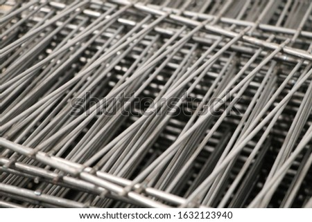 Steel grating and Steel Factory put row use for Background.