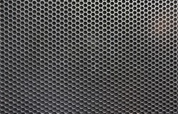 Steel grating of loudspeaker ,full frame black grid of a speaker texture
