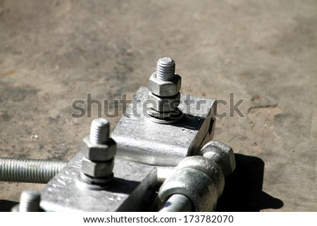 Steel hardware for clamp steel cable